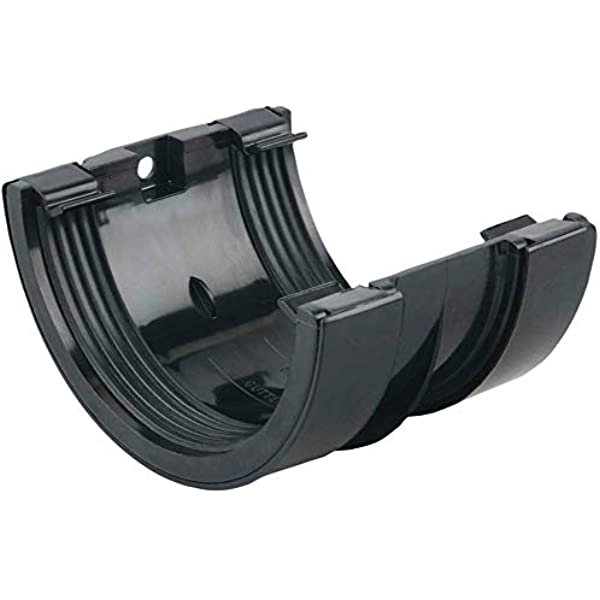 2 x DOWNPIPE Clip Brackets Black 68mm for Support and Jointing