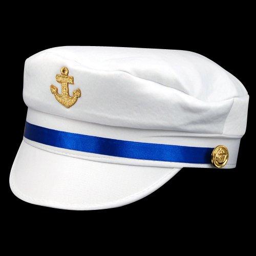Gleader Bianco Sesso Cappello da marinaio Costume feste mascherata
