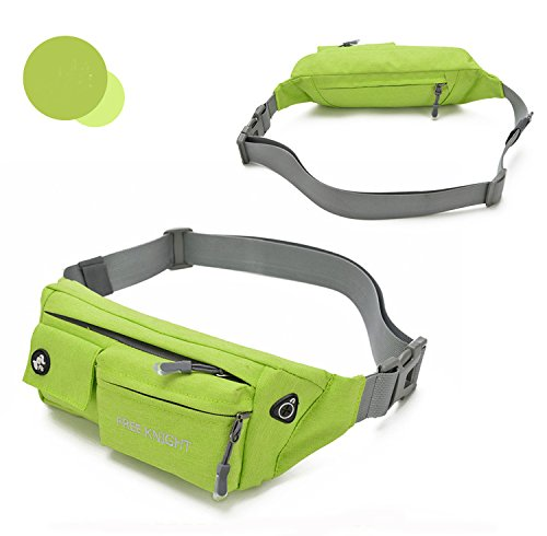 Taille Pack Fanny Pack Bauchtasche Hip Pack Running Tasche Hüfttasche wasserabweisend Verstellbarer Bund für Running Radfahren Wandern Jagd Fruit green
