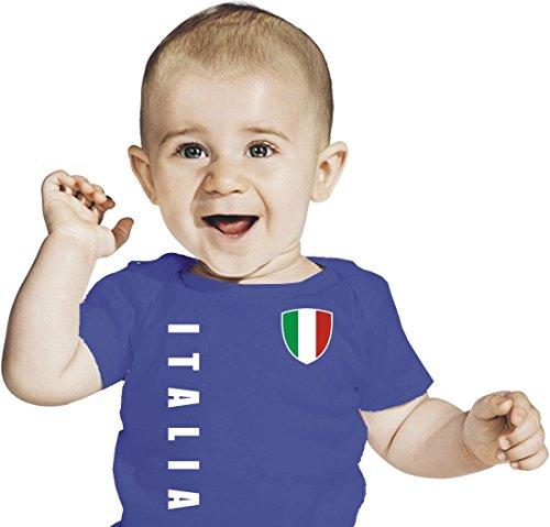 NR blau Italien ITALIA  Kinder BABY Größe 56-98 EM T-Shirt Trikot  Druck NAME