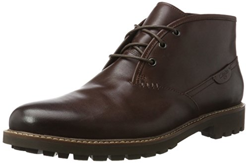 Clarks Herren Montacute Duke Kurzschaft Stiefel, Braun (Chestnut Leather), 41 EU