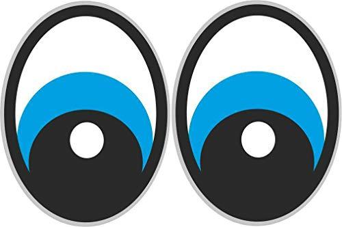 2x Augen Aufkleber für Saugroboter, Mähroboter Wischroboter Thermomix Sticker Set Roboter (blau) -