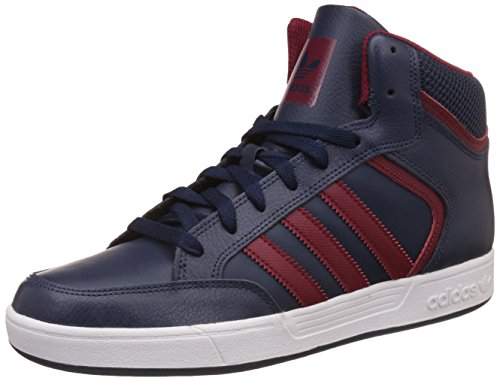 Adidas varial mid, sneaker a collo alto uomo, blu navy/collegiate burgundy/ftwr white, 43 1/3 eu