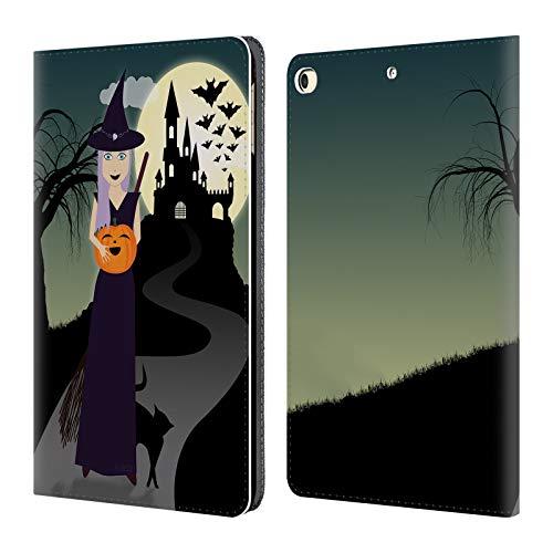 fizielle PLdesign Hexe Halloween Brieftasche Handyhülle aus Leder für iPad 9.7 2017 / iPad 9.7 2018 ()