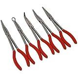 Neilsen CT30075pezzi Set di pinze lunghe 27,9cm-rosso (pezzo)