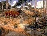 GFM Painting Handgemalte Ölgemälde Reproduktion von Noonday Rest in New England,Ölgemälde von Julian Alden Weir - 8 By 10 inches