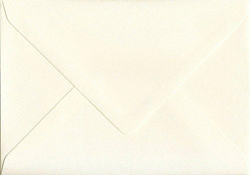 100Stück Magnolia 152mm x 216mm Gummierung, 110gsm groß A5Karte creme farbige Umschläge-GF Smith Accent Antik Papier