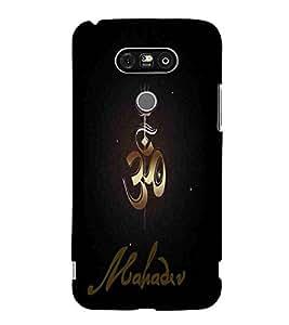 For LG G5 :: LG G5 Dual H860N :: LG G5 Speed H858 H850 VS987 H820 LS992 H830 US992 OM, Black, Trishool, Mahadev, Printed Designer Back Case Cover By CHAPLOOS