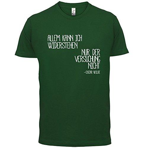 Allem kann ich widerstehen, nur der Versuchung nicht - Herren T-Shirt - 13 Farben Flaschengrün