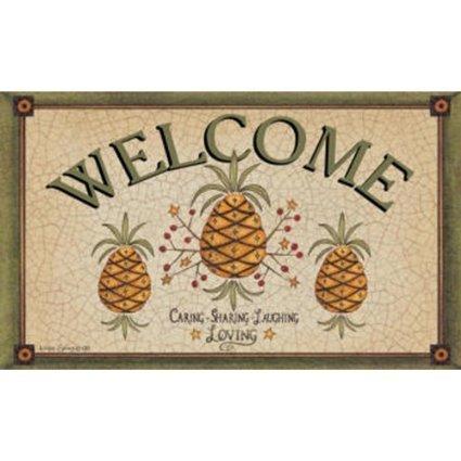 Good quality Custom Decor Mat-Pineapple Welcome-Felpudo