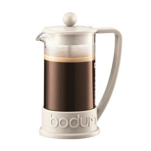 Bodum BRAZIL Kaffeebereiter (French Press System, Permanent Edelstahl-Filter, 0,35 liters) cremefarben