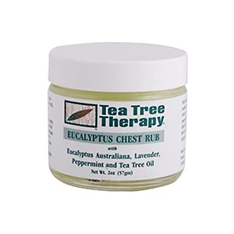 Tea Tree Therapy Eucalyptus Chest Rub Eucalyptus Australiana Lavender Peppermint and Tea Tree Oil - 2 oz pack of -10 by Tea Tree Therapy