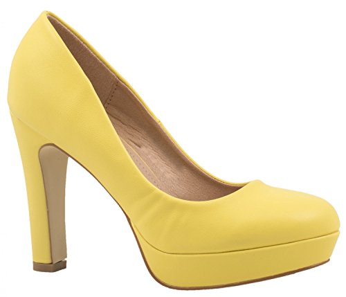 Elara Plataforma Mujer, Color Amarillo, Talla 37 EU