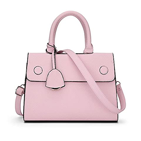 Sotica Women Fashion PU Leather Shoulder Bags Top-Handle Handbag Tote Bag (pink)