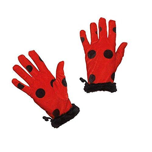Kostüm Zubehör Handschuhe Marienkäfer Karneval (Kostüm Marienkäfer Zubehör)