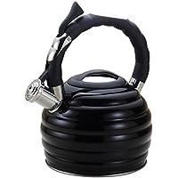 Hervidor de agua 3 L Acero Inoxidable Negro/Para fogón de inducción/gas/