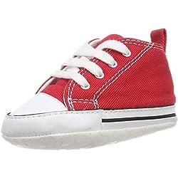 Converse CT First Star Toile, Botines de Lona Bebé-Niños, Rojo (Red), 17 EU