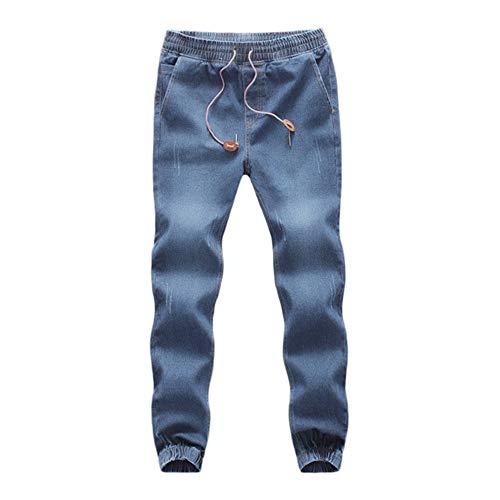 Allence Herren Hose Männer Zerrissene Slim Fit Motorrad Vintage Denim Jeans Hiphop Streetwear Hosen Freizeithose SporthoseJogginghose -