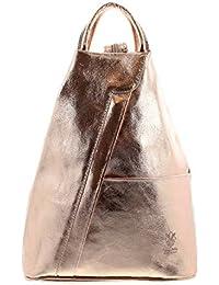 IO.IO.MIO leichter echt Leder Damenrucksack CityRucksack DayPack freie Farbwahl , 27-18x30x13 cm (B x H x T)