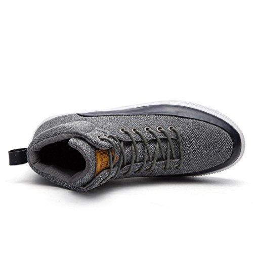 Mode Homme Chaussures De Sport Respirantes Chaussures De Course Chaussures Antidérapantes Ballerines Augmente Les Chaussures Protection Des Pieds Euro Taille 39-44 Grise