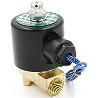 heschen Messing Elektrisches Magnetventil 3/8 Zoll DC 12 V Direct Action Wasser Air Gas Normalerweise geschlossen Ersatz-Ventil