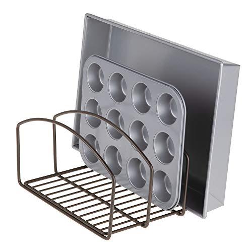mDesign Organizador de cocina – Bandeja organizadora con 3 apartados para  poner orden en la cocina d5a5f85cfcf7