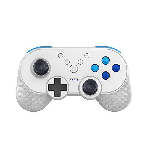 BestFire Mini Wireless Controller für Nintendo Switch Pro Gamecube Controller Wireless Remote Bluetooth Gaming Gamepad Joypad mit USB Ladekabel, unterstützt NFC & Motion Control Dual Vibration weiß (Xbox Mini Wireless-controller)