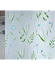 CVANU Privacy Window Film Printed Window Frosting Film Window Sticker Window Frosted Vinyl Sheets for Front Door/Bathroom/Sidelight/Small Windows (CV-GlassFilm-15) 12''x50''