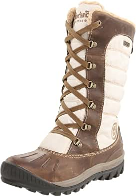 Timberland Mount Holly FTW_EK Mount Holly F/L Lace Duck WP Boot, Damen Warm gefütterte Schneestiefel, Braun (LIGHT BROWN), 36 EU (3.5 Damen UK)