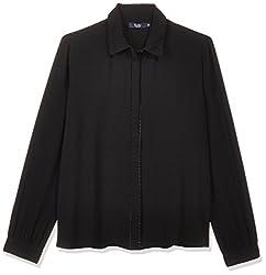 Allen Solly Womens Body Blouse Shirt (AWTS317R00349_Jet Black_Medium)