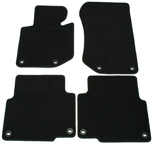 Preisvergleich Produktbild Velours Passform Fußmatten Set Schwarz für 3er BMW E36 Lim Coupe Touring Compact