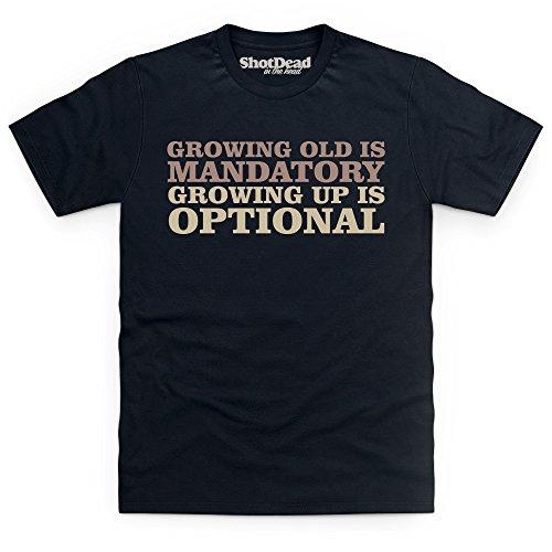 Growing Old Is Mandatory T-Shirt, Herren Schwarz