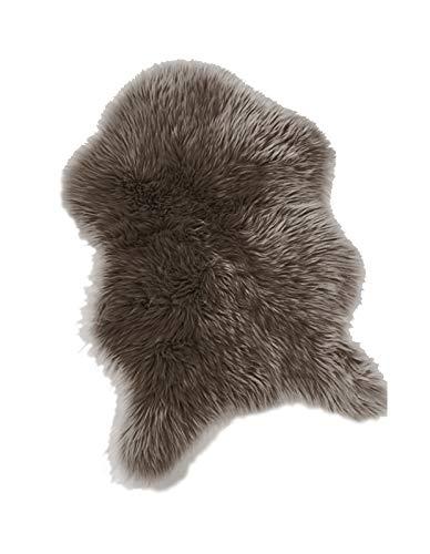 äufer Teppich Taupe 55x80cm Sofa Stuhl Matte Tier Kunstfell ()