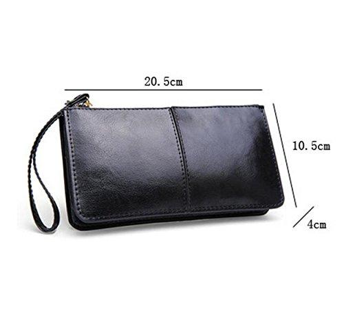 Damen Brieftasche Multi-Card Lange Brieftasche Handtasche Freizeit Mode Wild Black