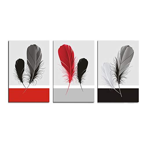e Leinwand Malerei Wandkunst das Bild für Zuhause und Büro Dekoration, einschließlich Bilder und Rahmen - einfache Feder HD ()