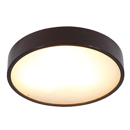 Deckenleuchte Holz LED 3x6W | Holzlampe Jasmin Ø 47,5cm| Deckenlampe 230V Wohnraumleuchte Decke |...