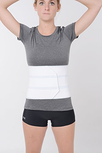 Soft Form Abdominal Binder - 4 Panel 12 - White - Large by FLA Orthopedics -