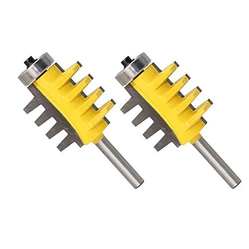2pcs Profil Verleimfräser Verleimfräser Router Bit Holzschneider Holzbearbeitung, Schaftdurchmesser 8 mm