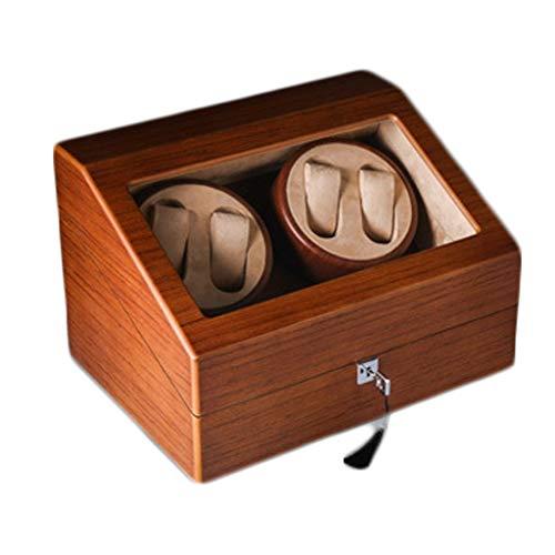 MEISHI Watch Winder Box, Automatic Watch Winder con motore silenzioso, 4 + 6 Esporre sicurezza, pile o adattatore AC 34x25x22 cm