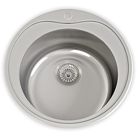 Cambridge 1 Bowl 180mm Deep Satin Stainless Steel Sink & Waste Kit