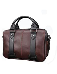 PLYY Moda de los Hombres Maletín Cuero Negocio Viajar Bolsa para portátil  Mensajero Bolsa de Hombro 2cae3536fe0