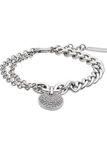 gehobene Qualität verschiedenes Design kosten charm JETTE Silver Damen-Armband 925er Silber 46 Zirkonia One Size 86624486