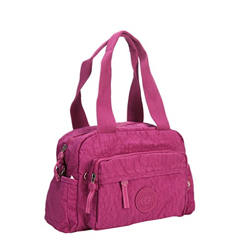 JOTHIN Hochwertige Männer und Frauen Umhängetasche lässig Tasche Messenger Bag kleine Schulranzen 26x20x11cm(L*H*W) Lila -H