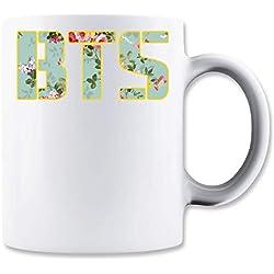 ShutUp Floral BTS Taza para Café y Té