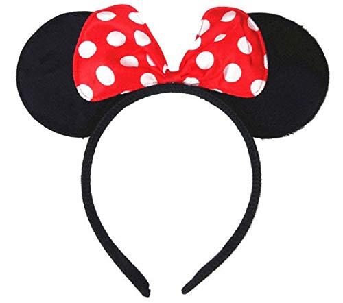 Inception Pro Infinite Stirnband mit Ohren - rote Schleife - weiße Pois - Accessoires - Kleid Minnie - Topolina - Frau - ()