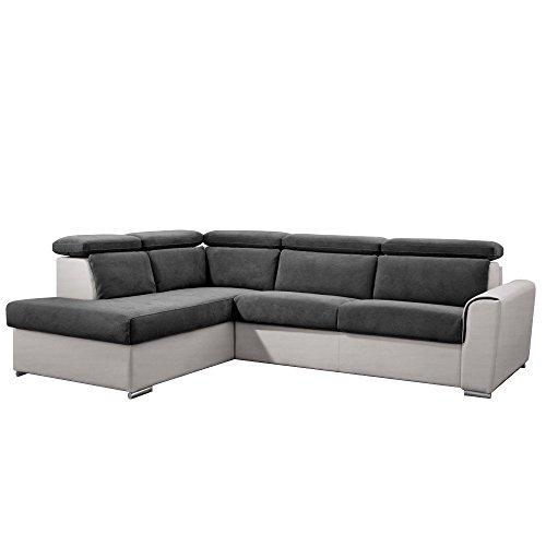 Inside divano angolare penisola sinistra imola bicolore apertura rapido materasso 18cm a pelo 140cm rete doghe renatonisi