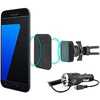 MidGard magnetico auto vent clip di montaggio telefono cellulare supporto auto universale per Samsung Galaxy S7 / S7 Edge incl. Auto cavo di ricarica
