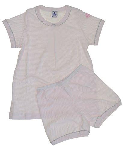 Schlafanzug 32242 rosa-weiß Ringel Shorty - Pyjama Mädchen (6 - 116) ()