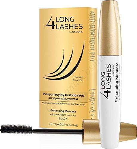 Long 4lashes Nutriente per ciglia crescita Mascara con BIOTINA e Acido Ialuronico 10ML