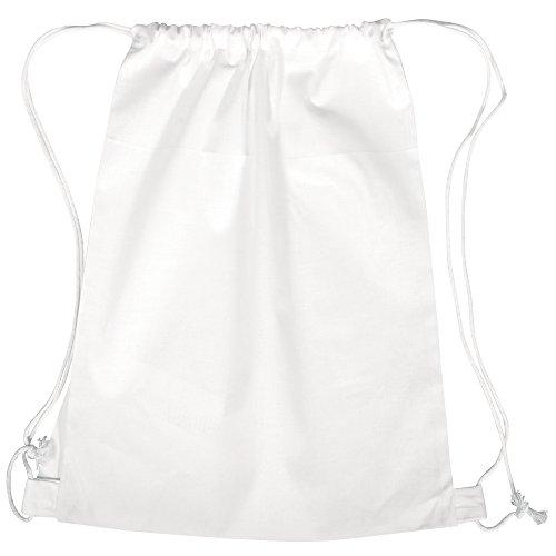 Rayher Hobby 38693102 Freizeit-/Sport-/Turnbeutel, mit Kordelzug, 38 x 42 cm, weiß, Tasche, Rucksack